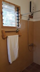 Cottage: shower and towel rail